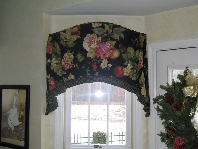 ruffled arch top valance